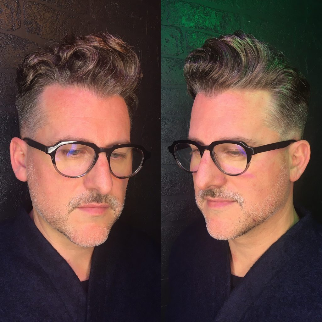 Men's haircut with Organic Permanent waves created by using Organic Systems Perm
