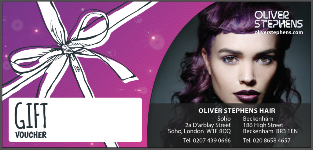 Hair vouchers now avaliable at Oliver Stephens, Soho and Beckenham salons